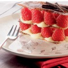 millefeuille chocolat blanc framboises